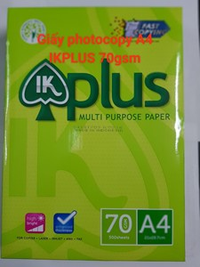 Giấy photocopy A4(70) IK Plus